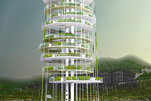 a skyscraping vertical farm tower concept designtaxicom