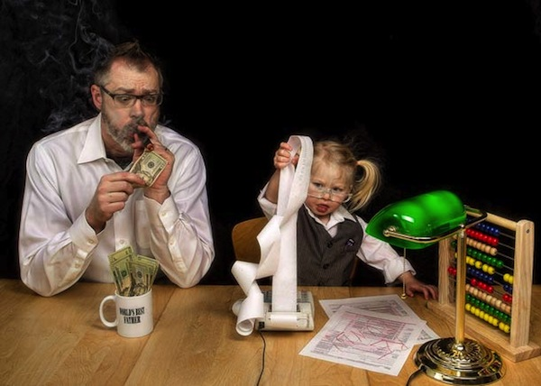 Funny Photo Series Depicts Father And Daughter In Amusing