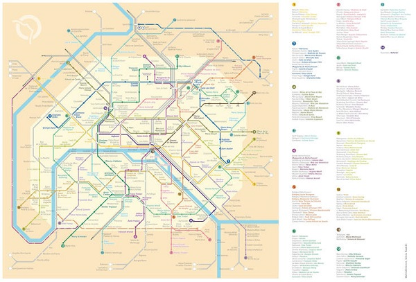 A Paris Metro Map That Shows Stations Renamed After Famous Women - French metro map