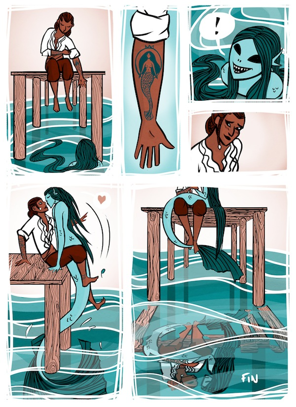 a wonderful comic about a female sailor who falls in love