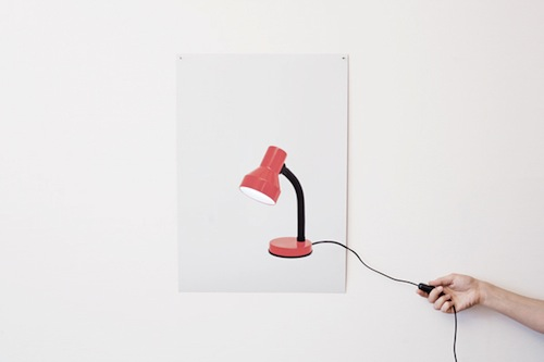 Two-dimensional desk lamp