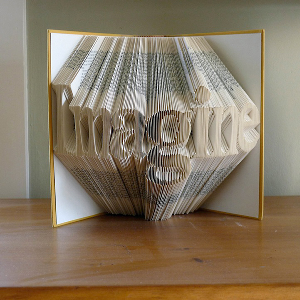 Beautiful Typographic Book Sculptures Created With Folded