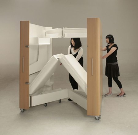 japanese firm atelier opa has designed a set of furniture for those with space constraints bedroom office furniture