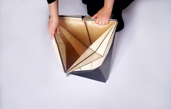 A Furniture Set That Can Be Folded Like Origami Paper