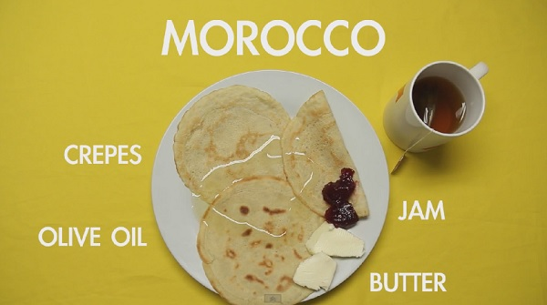what do people in different countries eat for breakfast