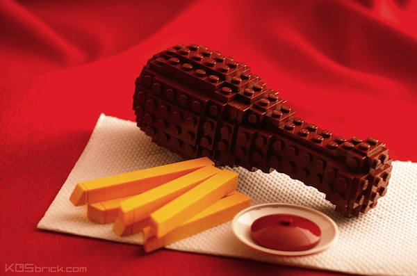 Mouth-Watering Food Like Fried Chicken, Cakes Made Entirely With LEGO ...