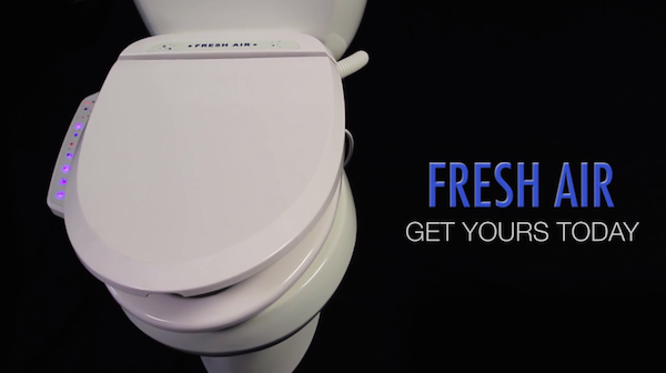 A Toilet Seat That Sucks Away Unwanted Odors With Its