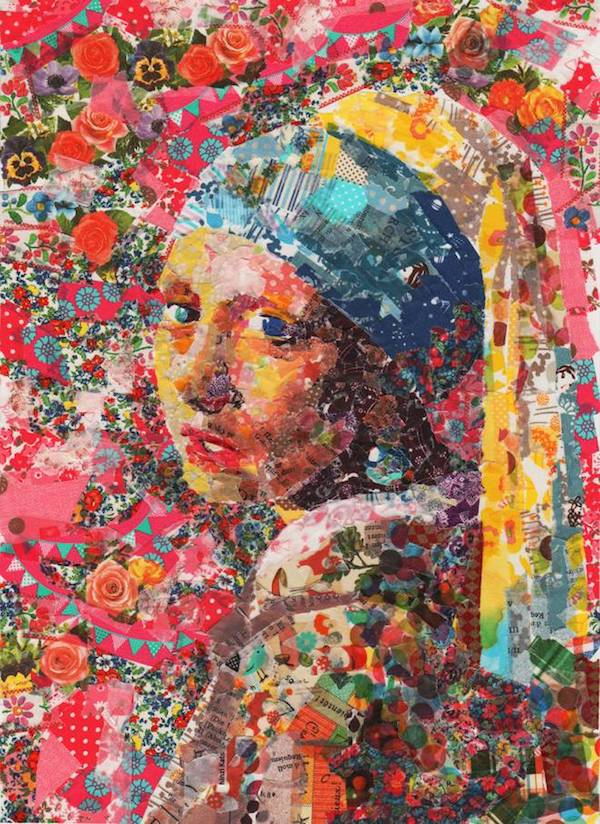 Famous Paintings Carefully Recreated With Layers Of ...