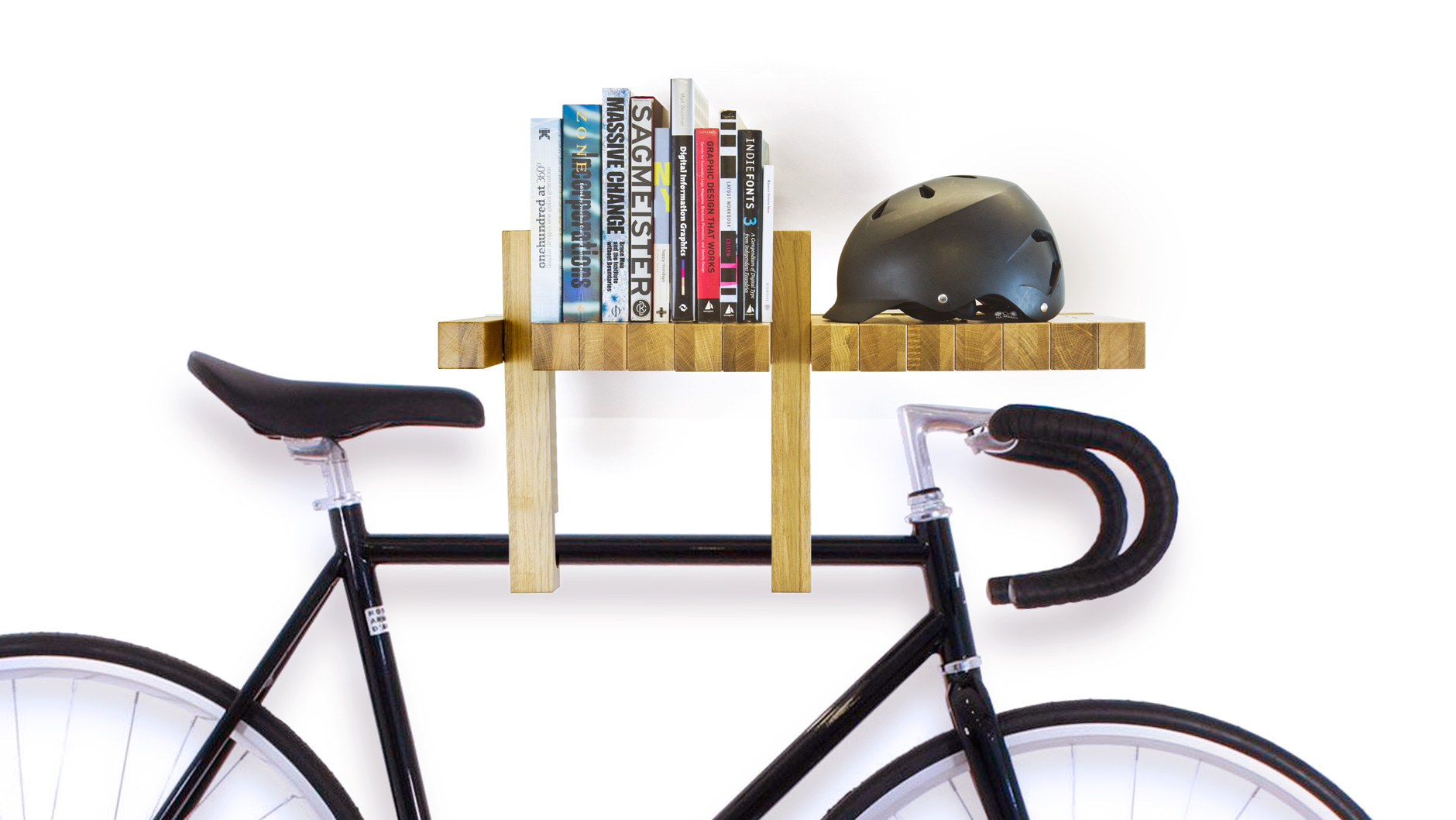 A multi functional versatile bookshelf shaped like Bicycle bookshelf