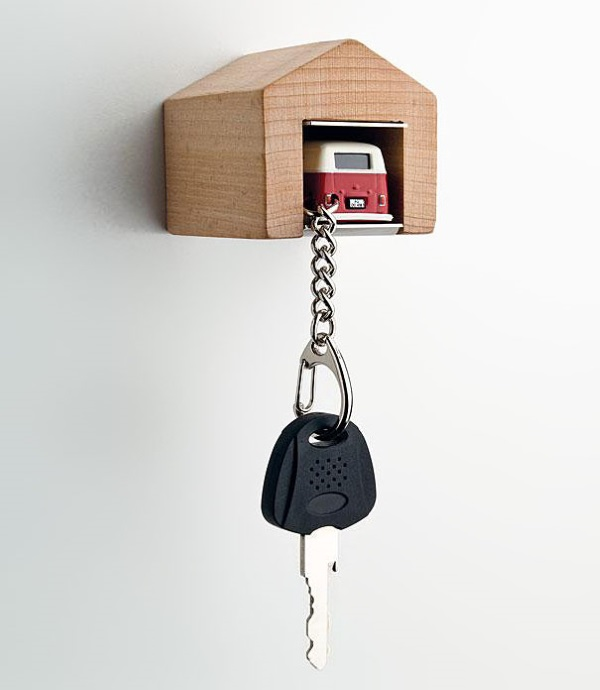 Designer Andr Rumann has created this adorable key tag and holder set for  car keys that we would love to usethe key tag is attached with a car model  that ...