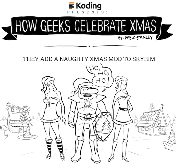 Funny Illustrated Comic Imagines How Geeks Celebrate Christmas ...
