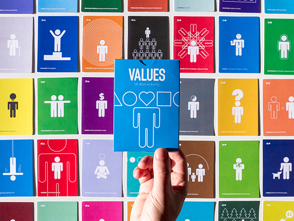 A Deck Of Beautiful, Minimalist Cards Featuring 58 Values That Make Us Human