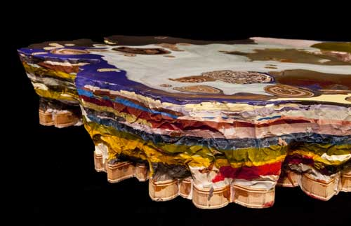 Colorful Cross Sections Of Rock Formations Made Into