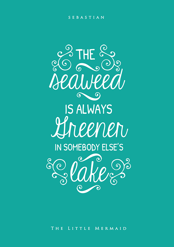 lovely typographic posters of inspiring quotes from disney