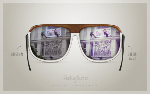 ad3a3292966f Concept Design For 'Instagram Sunglasses', See The World In Filters ...