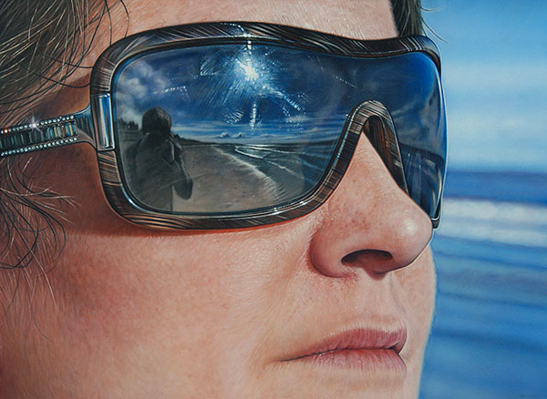 Hyperrealistic Paintings Of Famous Landmarks Reflected In
