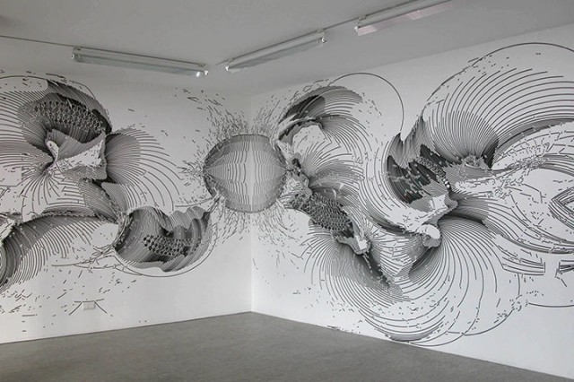 Off The Wall Arts liam thinks!: fluid, 3d drawings seem to leap off the walls