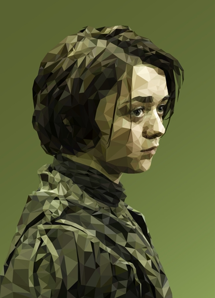 Game Of Thrones Characters Portraits Created In Polygon