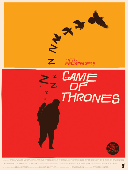 'Game of Thrones' Art Prints In The Style of Saul Bass