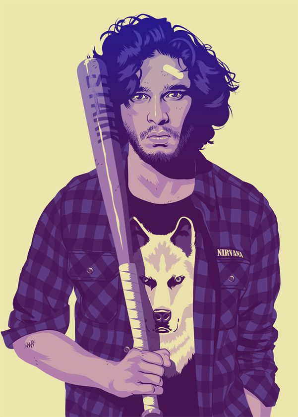 'Game Of Thrones' Characters Reimagined In 90s Style