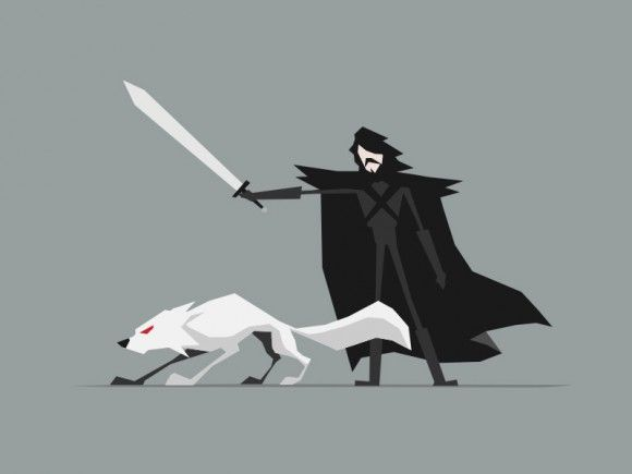 Game of thrones characters illustrated in minimalist for Minimal art vector