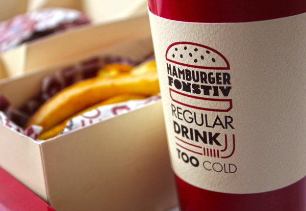 Creative Branding For Hamburgers That Uses Fonts To Describe Food