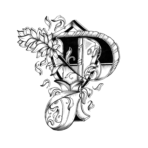 P Design: Intricately Hand-Drawn Alphabet With Individually Designed