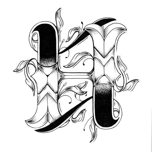 Money tattoo designs tattoo ideas pictures tattoo ideas pictures - Intricately Hand Drawn Alphabet With Inidually Designed