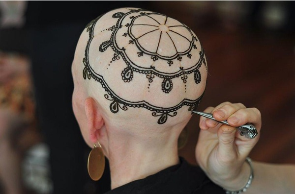Beautiful Henna Head Tattoos Help Cancer Patients Cope