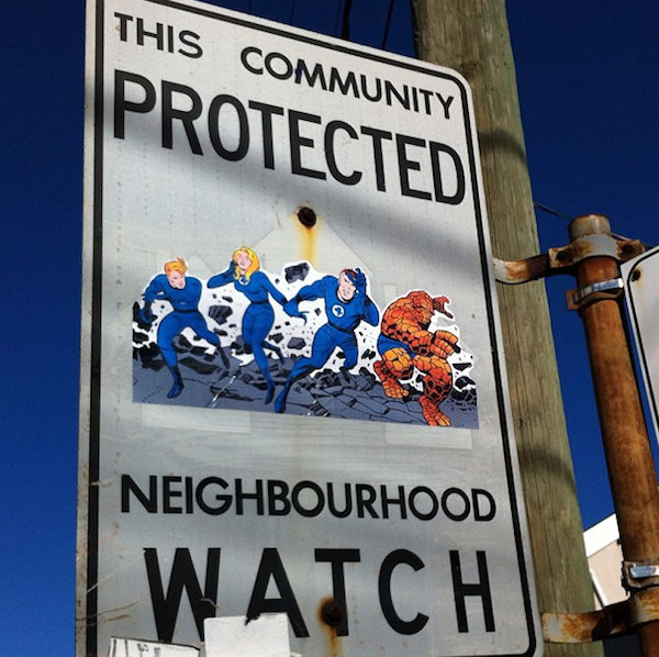 A Narrow Home That Keeps Its Eyes On The Street: In Toronto, Artist Gives Neighborhood Watch Signs A