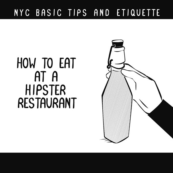 A Funny Illustrated Guide To Dining At A Hipster