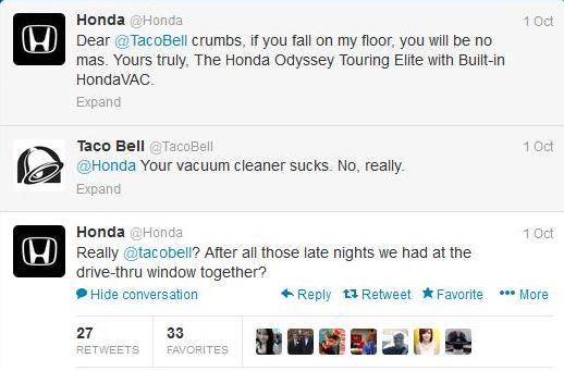 Honda Makes Fun Of Messy Food Brands With Funny Twitter