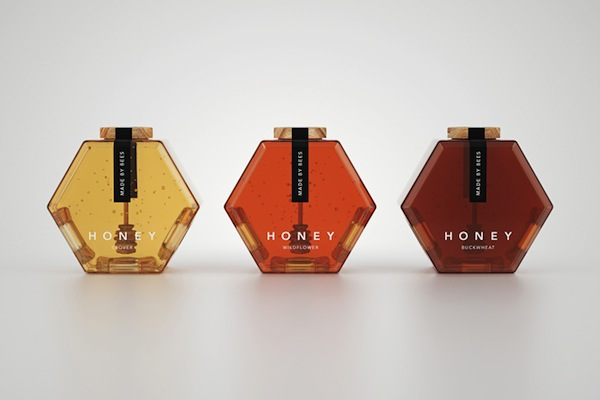 Gorgeous Hexagonal Honey Jars Stack Neatly Together To