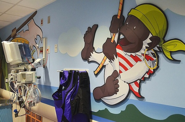 In A New York Children's Hospital, A CT Scanner Is Dressed As A Fun Pirate Ship