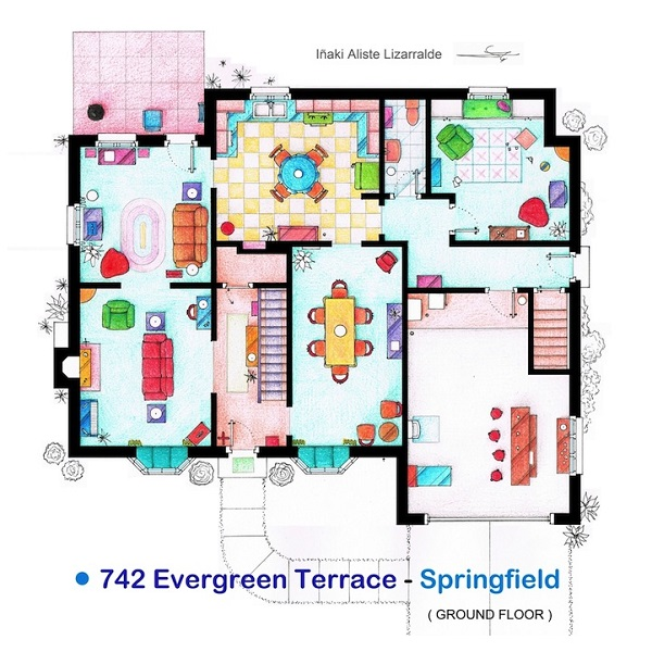 The floorplans of famous tv shows and films for Famous building blueprints
