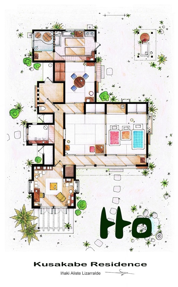 The floorplans of famous tv shows 1 design per day for Famous building blueprints