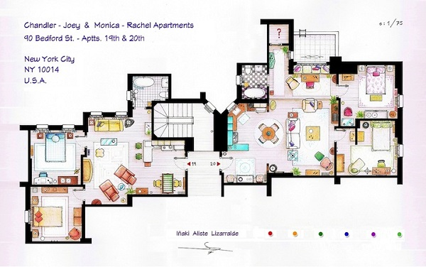 The floorplans of famous tv shows and films Home architecture tv show