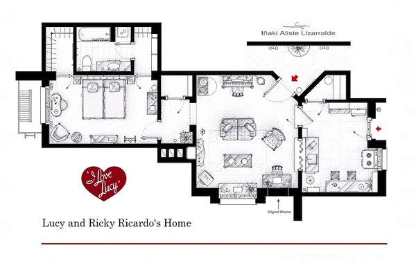 The floorplans of famous tv shows 1 design per day for Floor plans of famous houses