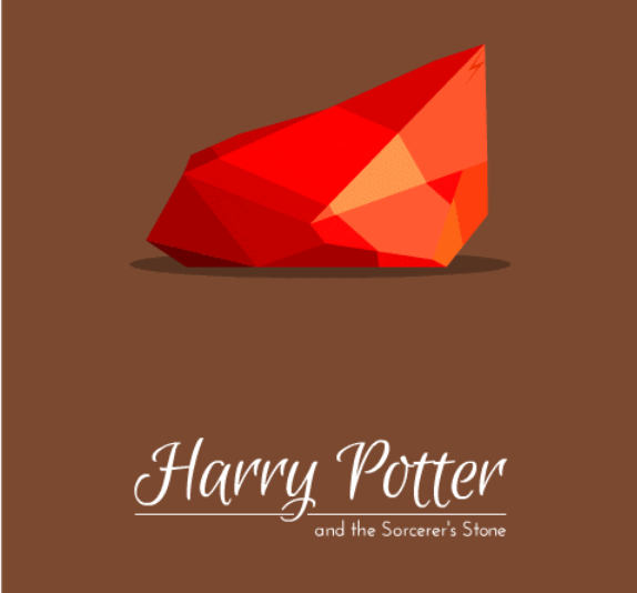 Harry Potter Minimalist Book Covers : 'harry potter book covers recreated as minimalistic