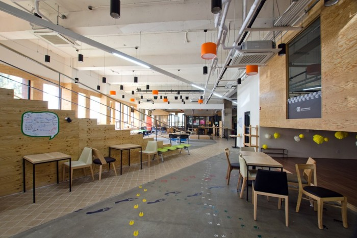 An ever changing co working space designed for maximum for Office design news