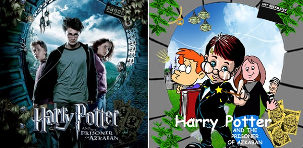 movie covers hilariously recreated with clip art and comic