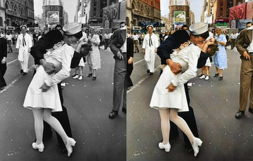 Sweden based artist sanna dullaway recently started a business in restoring and colorizing old black and white photographs