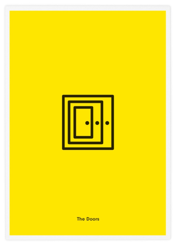 Minimalist icon posters of famous rock bands for Famous minimalist designers
