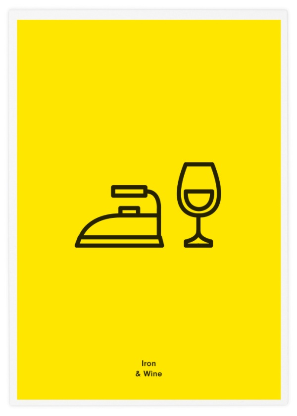 Minimalist Icon Posters Of Famous Rock Bands Designtaxi Com