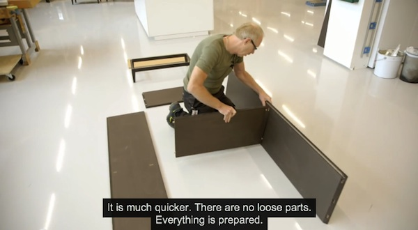 New ikea furniture takes less than five minutes to for Someone to assemble ikea furniture