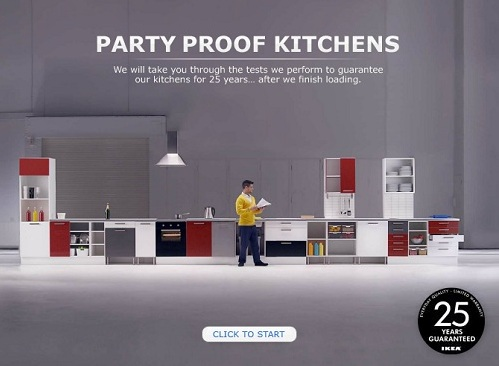 IKEA Creates Interactive Site To Show Off Its 39 Party Proof