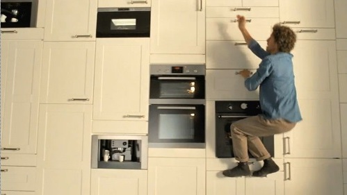 For IKEA Ad Campaign A Man Reaches New Heights In His