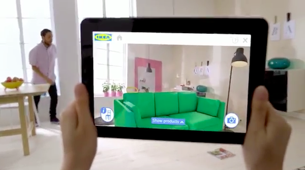 ikea augmented reality 2014 catalog lets you see furniture in your home. Black Bedroom Furniture Sets. Home Design Ideas