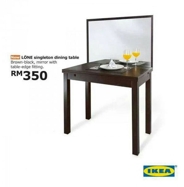 April Fools Joke IKEA Unveils Forever Alone Dining  : 1 from designtaxi.com size 595 x 603 jpeg 49kB