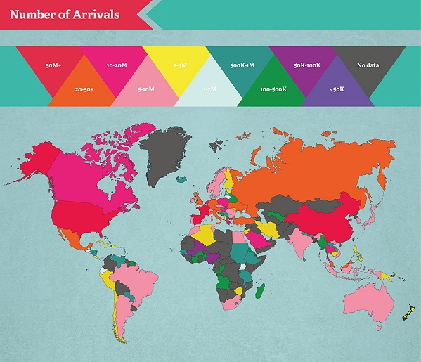 Infographic the most visited countries in the world designtaxi if you thought that the us was the most visited country in world think again it turns out that france is actually the most popular destination gumiabroncs Image collections
